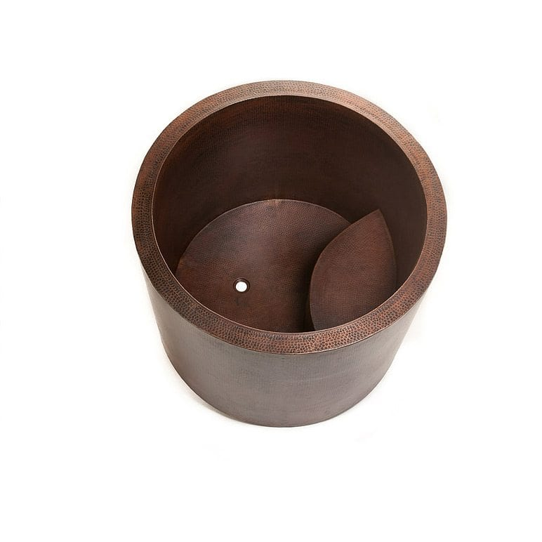 Japanese Style Soaking Hand Hammered Copper Bath Tub | Premier ...
