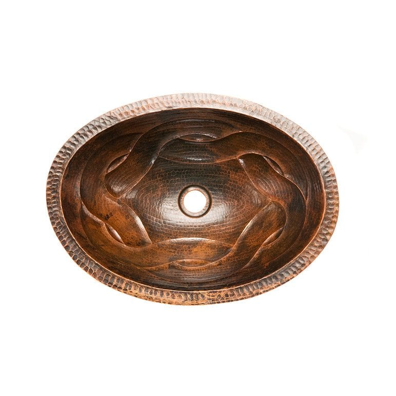 Oval Braid Under Counter Hammered Copper Sink Premier Copper Products