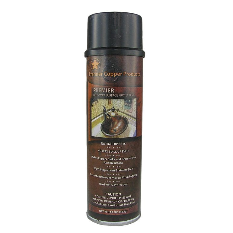 Copper Sink Wax Protectant
