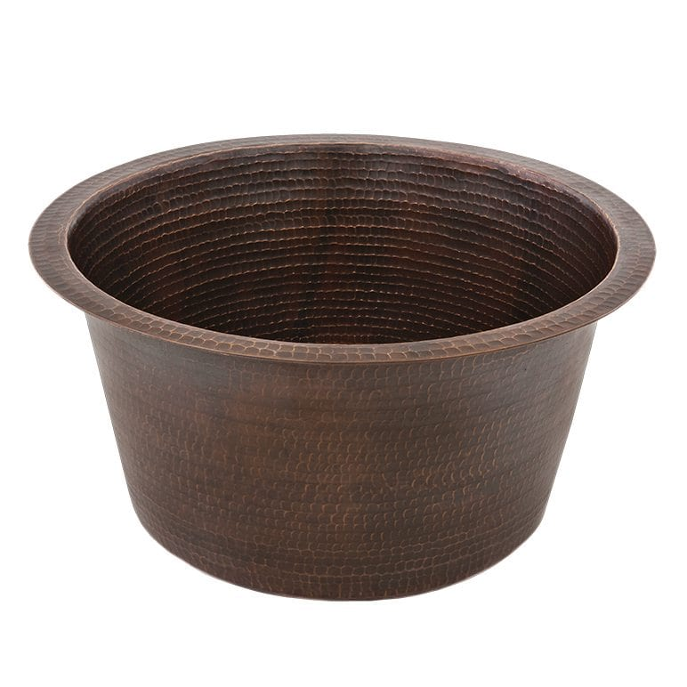 Large Round Hammered Copper Prep Sink Premier Products