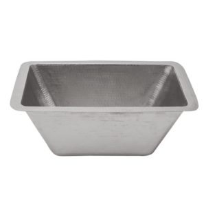"Rectangle Copper Bar Sink in Nickel w/ 2"" Drain Size"