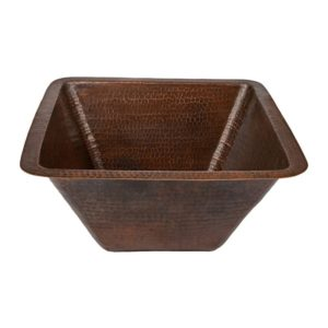 17″ Square Hammered Copper Bar/Prep Sink