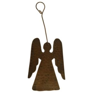 Hand Hammered Copper Angel Christmas Ornament – Quantity of 3
