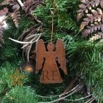 Hand Hammered Copper Angel Christmas Ornament – Quantity of 6