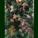 Hand Hammered Copper Christmas Ornaments – Complete Assortment of 12