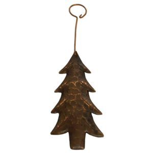 Hand Hammered Copper Christmas Tree Ornament - Quantity of 6
