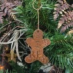 Hand Hammered Copper Gingerbread Christmas Ornament – Quantity of 3