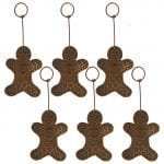 Hand Hammered Copper Gingerbread Christmas Ornament – Quantity of 6