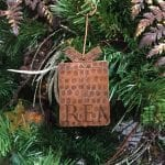 Hand Hammered Copper Present Christmas Ornament – Quantity of 6
