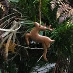 Hand Hammered Copper Reindeer Christmas Ornament – Quantity of 3