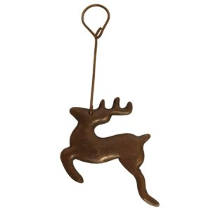 Hand Hammered Copper Reindeer Christmas Ornament – Quantity of 6
