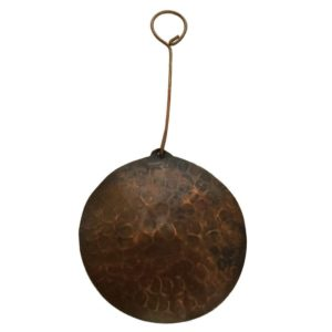 Hand Hammered Round Copper Christmas Ornament - Quantity of 3