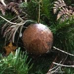 Hand Hammered Round Copper Christmas Ornament – Quantity of 6