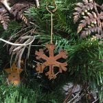 Hand Hammered Copper Snowflake Christmas Ornament – Quantity of 3