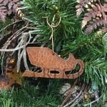 Hand Hammered Copper Sleigh Christmas Ornament – Quantity of 3