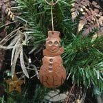 Hand Hammered Copper Snowman Christmas Ornament – Quantity of 3