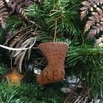 Hand Hammered Copper Stocking Christmas Ornament – Quantity of 3