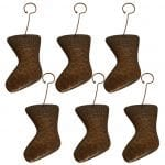 Hand Hammered Copper Stocking Christmas Ornament – Quantity of 6