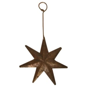 Hand Hammered Copper Star Christmas Ornament - Quantity of 3
