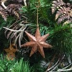 Hand Hammered Copper Star Christmas Ornament – Quantity of 3