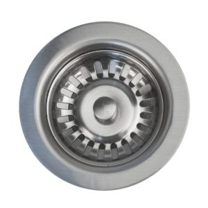 "3.5"" Kitchen, Prep, Bar Basket Strainer Drain - Brushed Nickel"