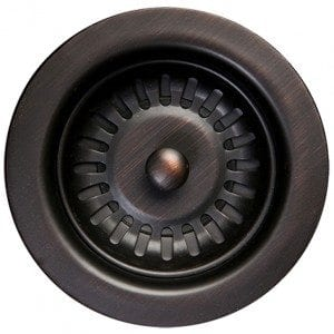 "3.5"" Kitchen, Prep, Bar Basket Strainer Drain - Oil Rubbed Bronze"