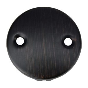 Two-Hole Overflow Cover / Face Plate in Oil Rubbed Bronze