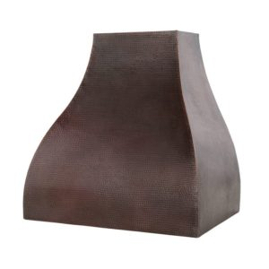 "36"" Hammered Copper Wall Mounted Campana Range Hood"
