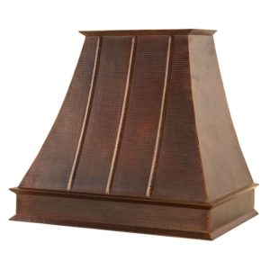 "38"" Hammered Copper Wall Mounted Euro Range Hood"
