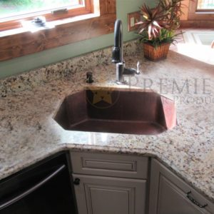 "Custom 28"" 8-Sided Under-Mount Kitchen Sink"