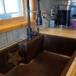 33″ Copper Kitchen Single Basin Sink With Space For Faucet