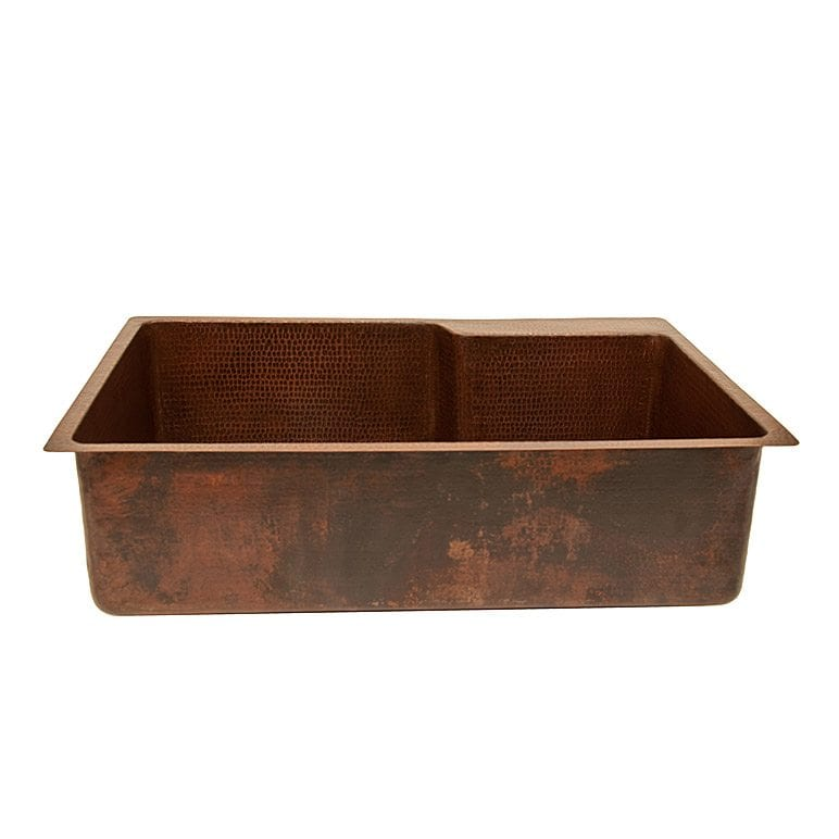 33 copper kitchen single basin sink with space for faucet