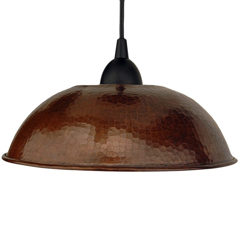 hand hammered copper 10 5 dome pendant light premier copper products
