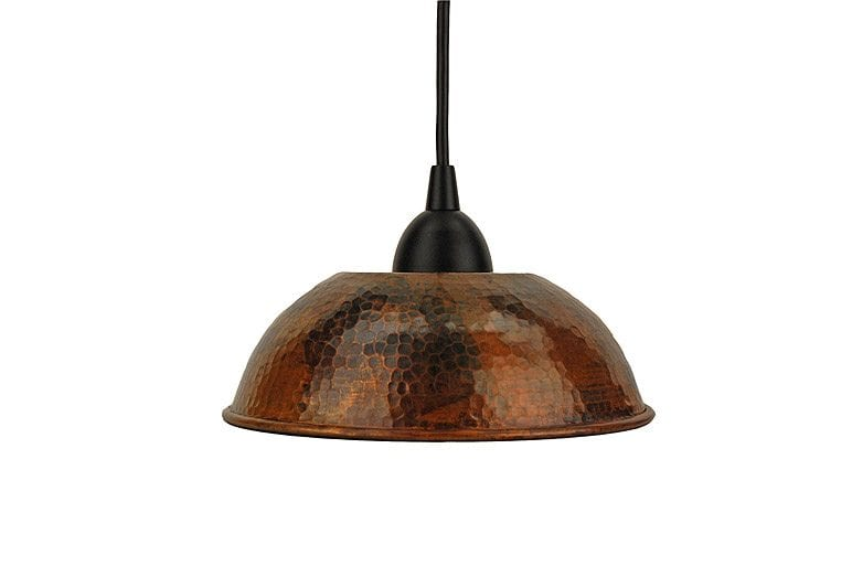 Hand Hammered Copper 8 5 Dome Pendant Light Premier