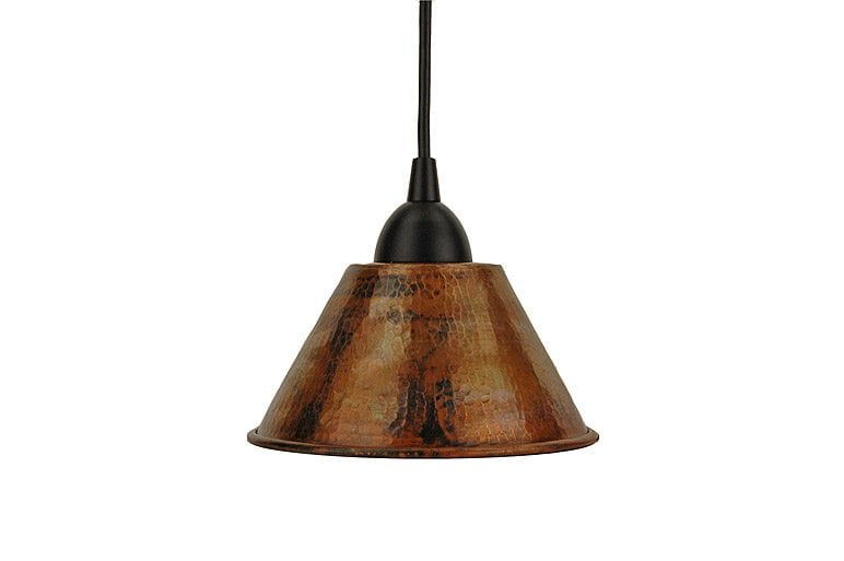 Hand Hammered Copper 7 Cone Pendant Light Premier