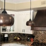 Hand Hammered Copper 7″ Globe Pendant Light Shade
