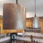 Hand Hammered Copper 8″ Oval Cylinder Pendant Light