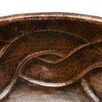 Oval Braid Self Rimming Hammered Copper Sink