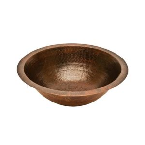 Round Under Counter Hammered Copper Sink