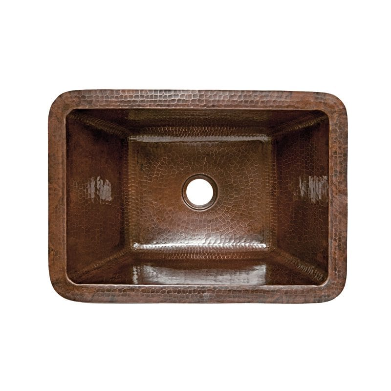 Rectangle hammered copper bathroom sink premier copper for Rectangular copper bathroom sink