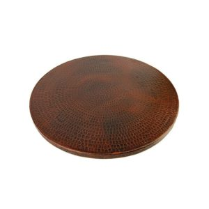 "18"" Hand Hammered Copper Lazy Susan"