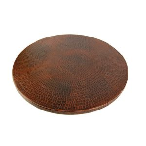 "20"" Hand Hammered Copper Lazy Susan"