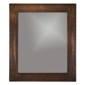 36″ Hand Hammered Rectangle Copper Mirror