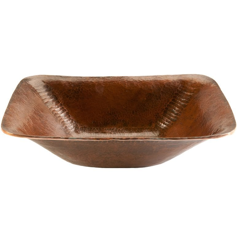 Rectangle Hand Forged Old World Copper Vessel Sink