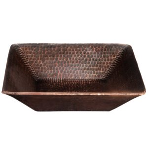 14″ Square Hand Forged Old World Copper Vessel Sink