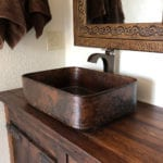 19″ Rectangle Tub Hand Forged Old World Copper Vessel Sink