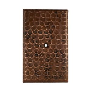 Blank Hand Hammered Copper Switch Plate Cover - Single Hole