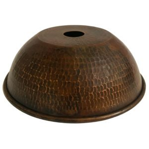 "Hand Hammered Copper 8.5"" Dome Pendant Light Shade"