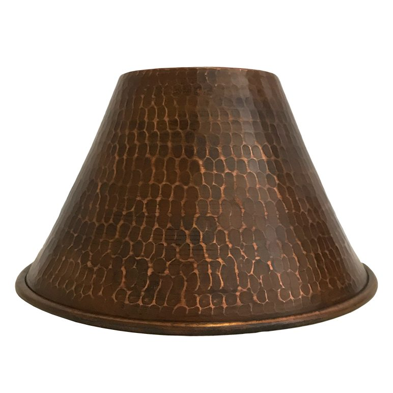 Hand Hammered Copper 7 Cone Pendant Light Shade Premier