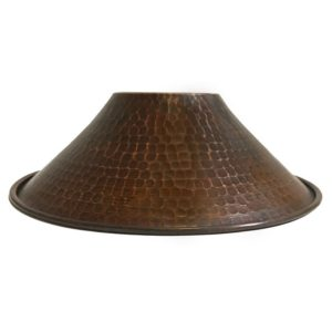 "Hand Hammered Copper 9"" Cone Pendant Light Shade"